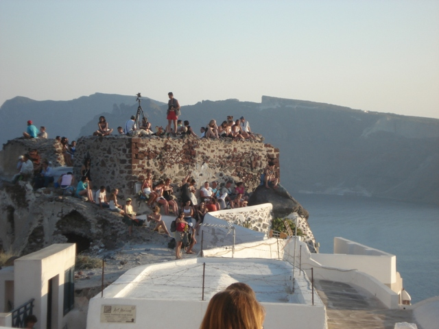 The castle of Oia