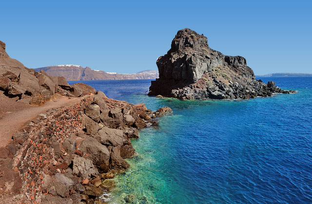 Santorini beach retro pics 64