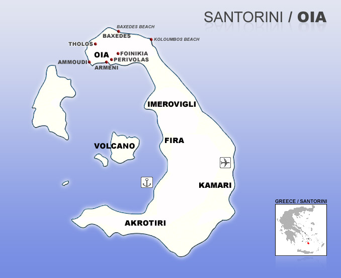Map Of Oia